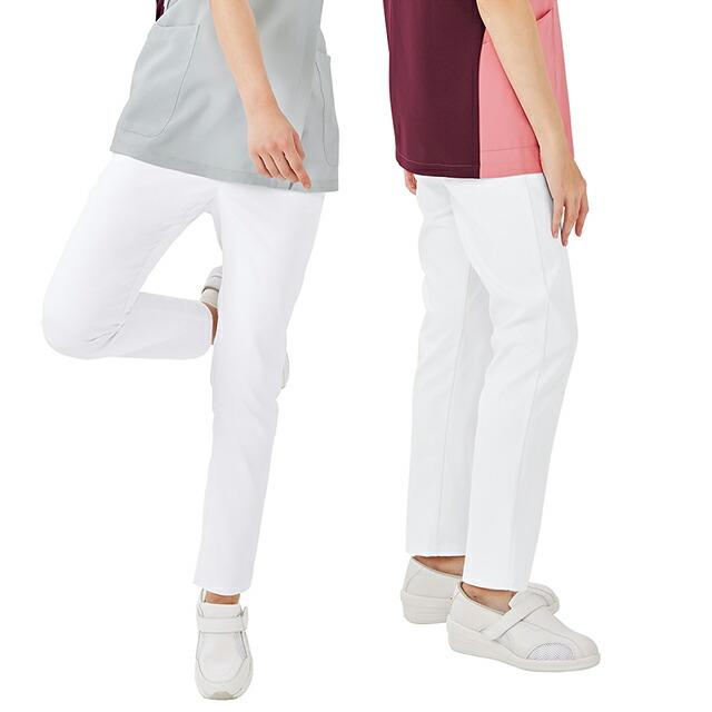 6017SC フォーク ナースウェア パンツ 女性用 スリムテーパードパンツ ストレッチ