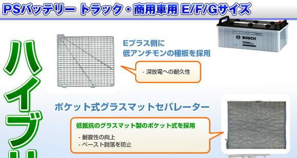 PSバッテリー トラック・商用車用 E/F/Gサイズ
