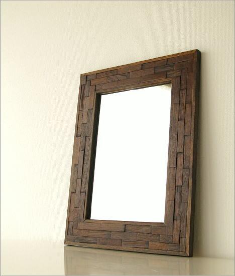 壁掛け組み木ミラー(1)