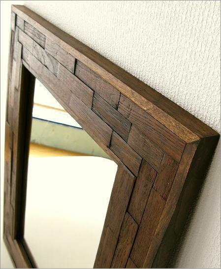 壁掛け組み木ミラー(2)
