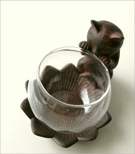 花瓶 子ネコのミニベース(1)
