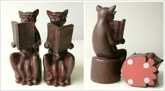 ネコのブックエンドB (3)