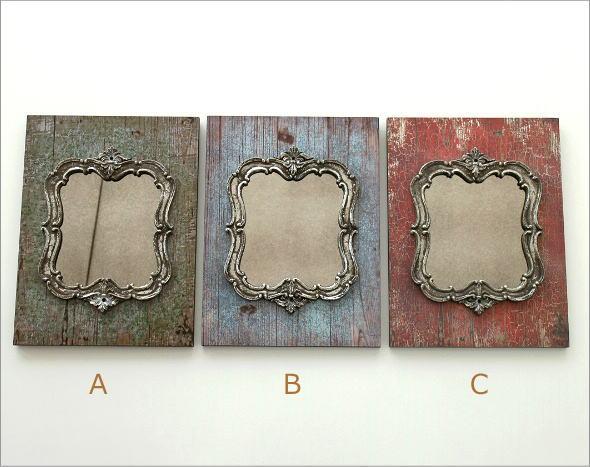 ブロカントなミラーの壁飾り 3カラー(5)