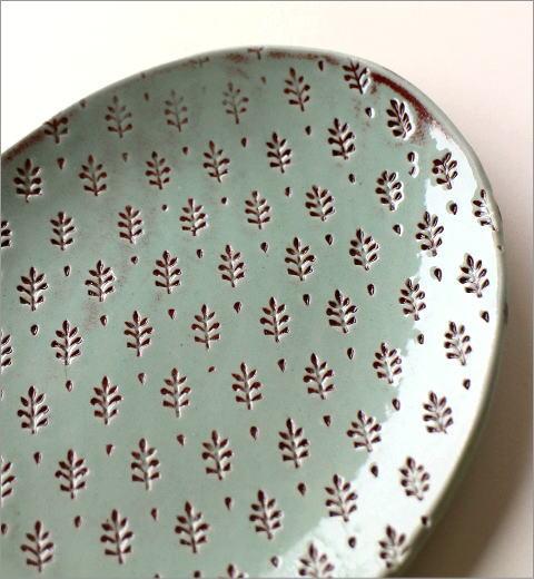 印伝 楕円皿(2)
