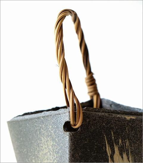 和陶器ベース 蔓付きダイヤ特大(2)