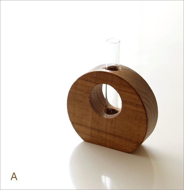 チーク古材一輪挿し 2カラー(4)