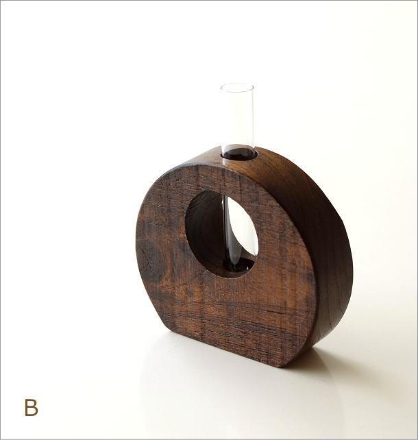 チーク古材一輪挿し 2カラー(5)