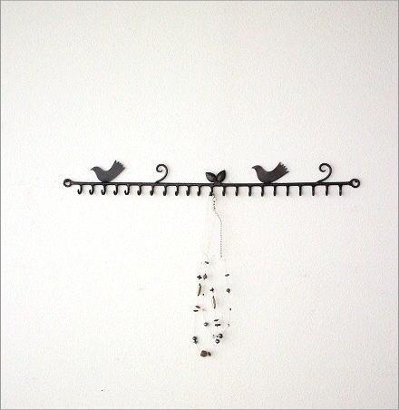 小鳥の壁掛けアクセサリーホルダー(4)