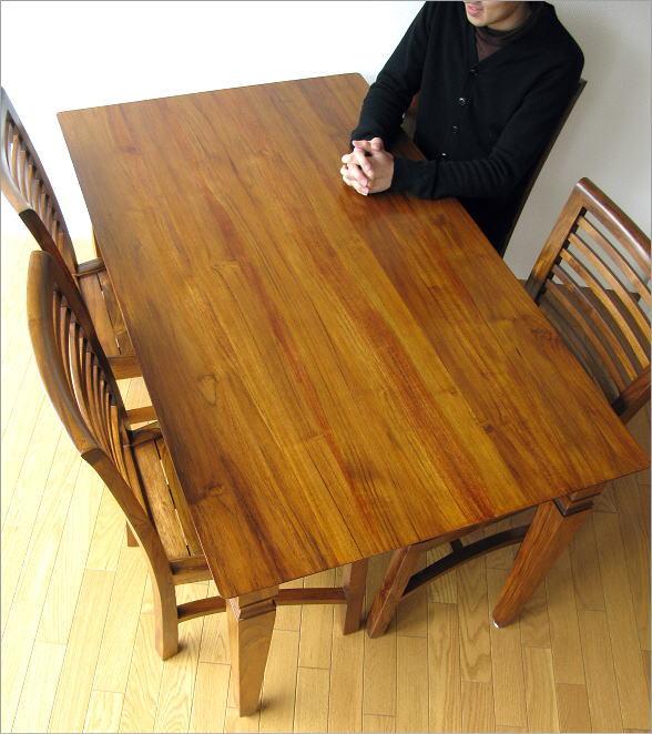 チークダイニングテーブル135(1)