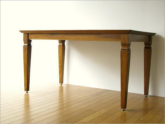 チークダイニングテーブル135(2)