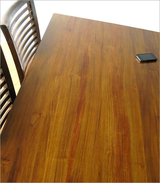 チークダイニングテーブル135(3)