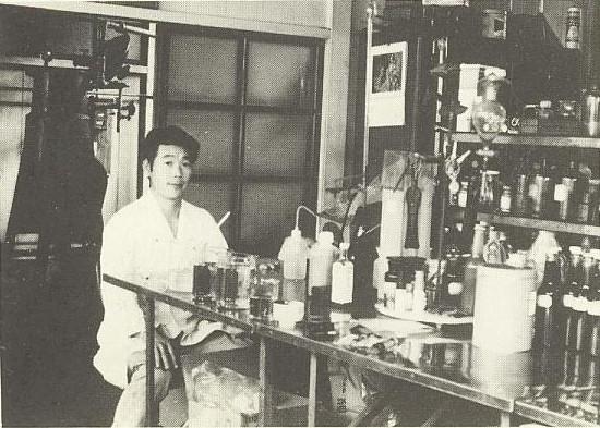 創業当初の研究・開発室の様子