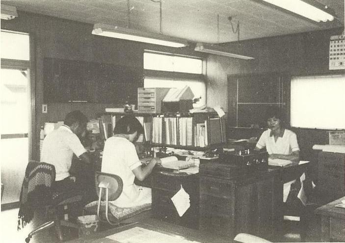 創業当初の事務室の様子