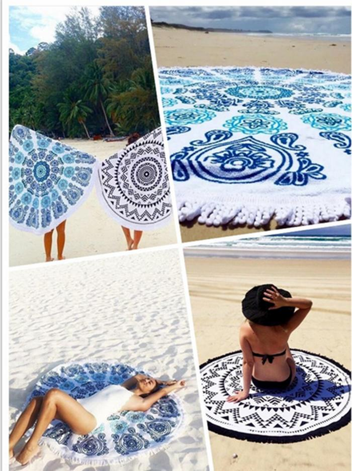 Cotton Printed Beach Towel, Size: 75 - 150 Cm