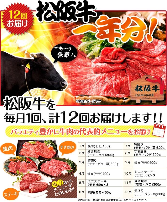 お肉一年分 松阪牛 風コース