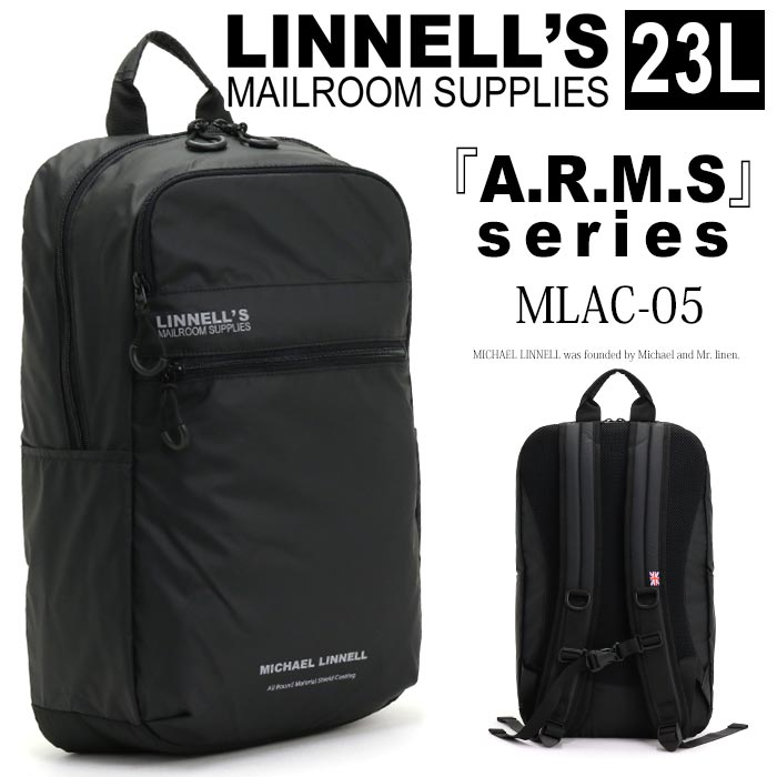 73624cb5373f 黒リュック 23L アームズ ARMS MLAC-05:HALLSHOT ホールショット 送料無料 バッグ かばん スクエアリュック 大学生 高校生  中学生 大人 かっこいい 通学用 通勤 ...