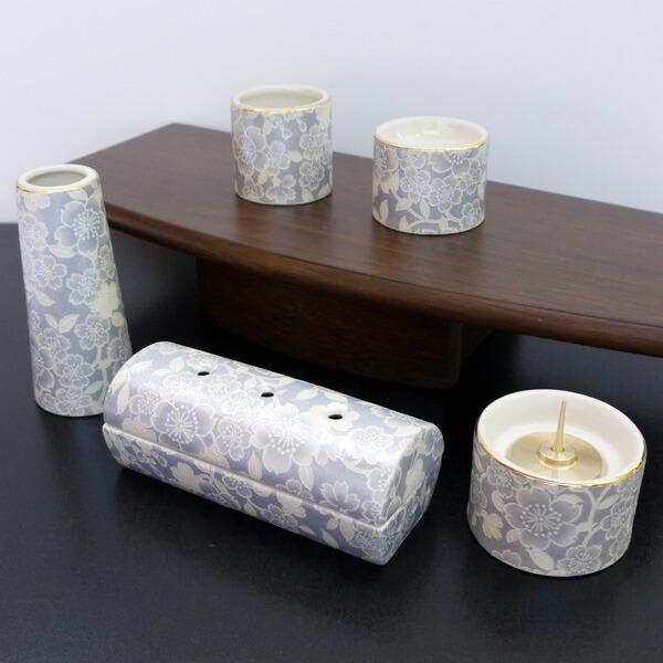 五具足 ゆい花 藤 筒型香呂