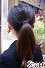 お団子ネットつきりボンバレッタで簡単まとめ髪