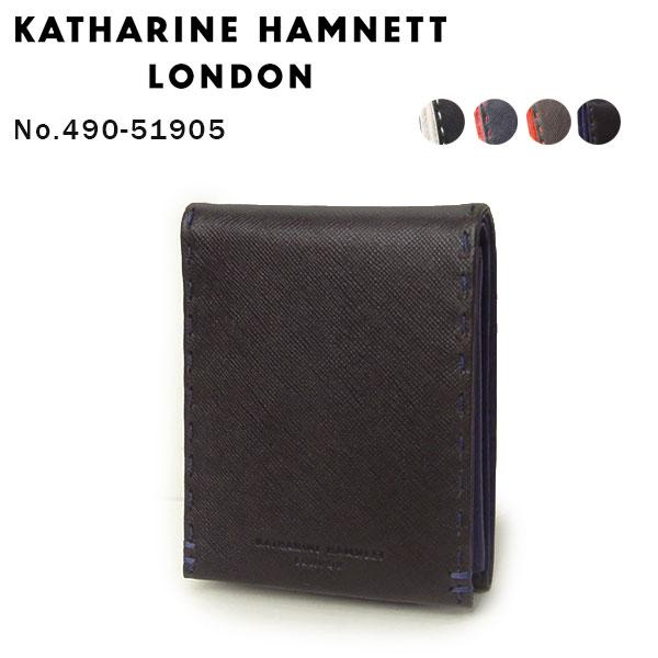 KATHARINE HAMNETT(キャサリンハムネット) カラーテーラード 二つ折り財布