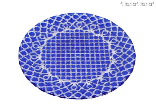 ハナ ガラス プレート 28m (ブルー)
