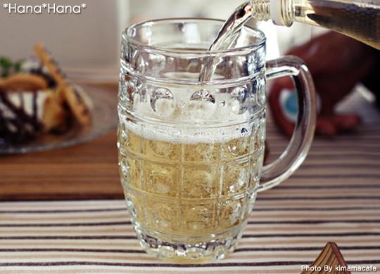 ドロップ/ガラスビールジョッキ520cc