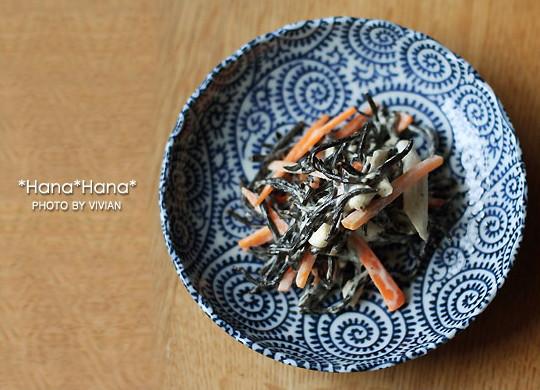 藍染タコ唐草/菊型13.5cm小皿