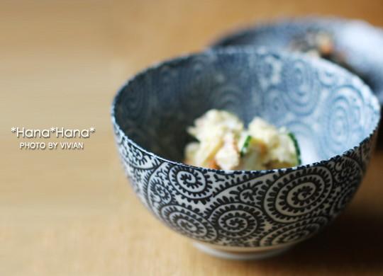 藍染タコ唐草/13cmお好み丼(小)