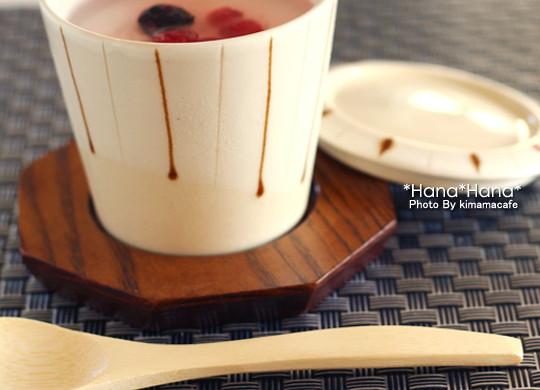 木製八角受台 茶碗蒸し用