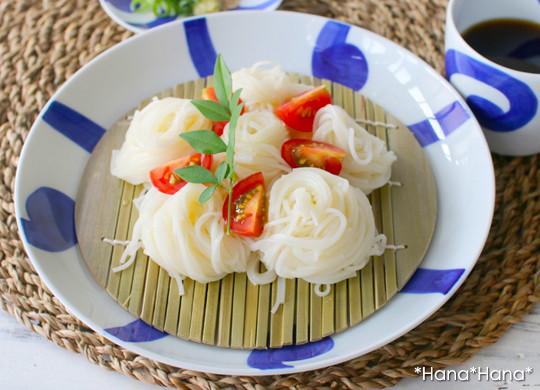 ルリ太唐草 深皿 麺皿 21.5cm(ざる/すのこ付)