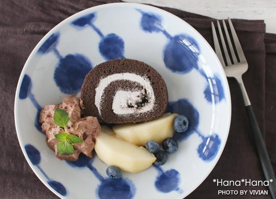 波佐見焼 ダンゴ ケーキ皿 19.5cm
