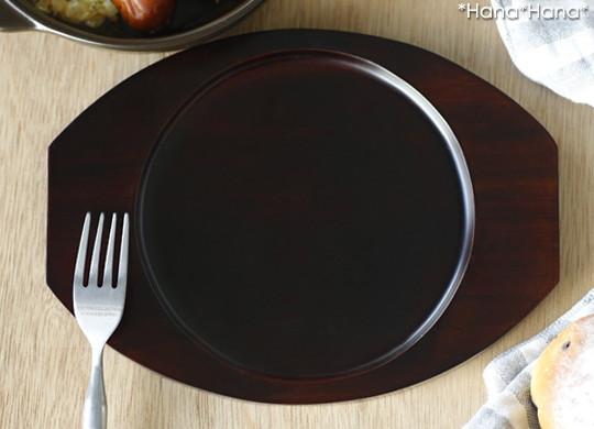 木製敷台 丸グラタン皿大用 内径14.8cm