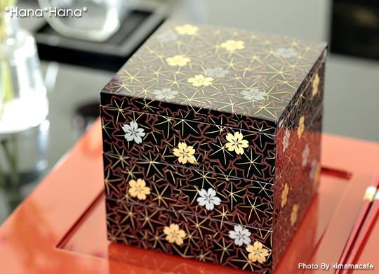 春秋5.0三段重箱 15cm 漆器
