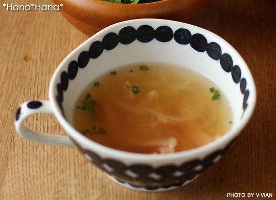 藍玉つなぎ/片手スープ碗320cc(敏山窯)