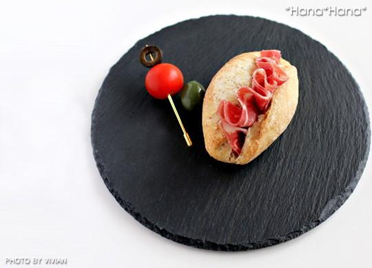 スレート食器 丸皿20cm 黒い食器