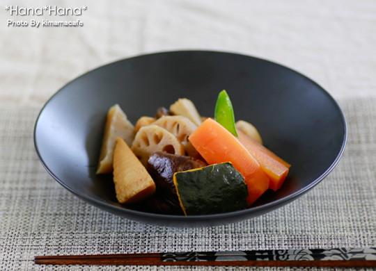 ブラックシリーズ/シンプルサークル・20cm平鉢(黒)