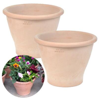 イタリア製 アンティーク陶器鉢9号 2個セット