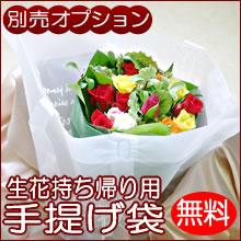 【無料オプション】生花持ち帰り用手提げ袋