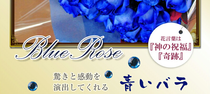 花言葉な「神の祝福」「奇跡」驚きと感動を演出してくれる青いバラ(ばら、薔薇)Blue Rose 青いバラ 青バラ 青い薔薇 青薔薇