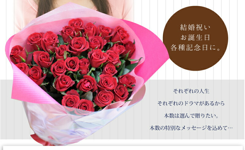 hanako: Rose birth date presents number of Red Roses Bouquet wedding ...