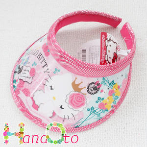 Hello Kitty lovely sun visor ♢ type D (pink mesh) ☆ Hello Kitty visor series cfbaef3b274c