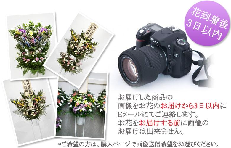 実際にお届けしたお花の写真を届け日から3日以内にEメールでお知らせ! ご希望の方は、購入ページで画像送信希望選択。