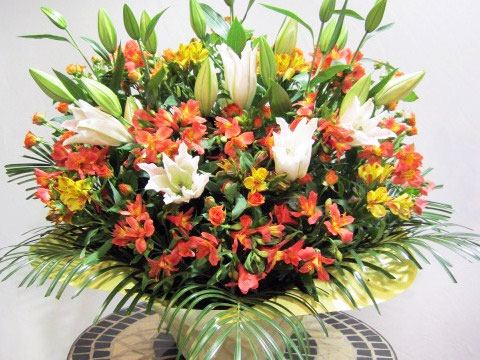 お祝い アレンジメント花