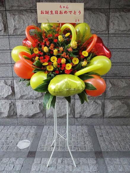 開店祝い バルーンスタンド花