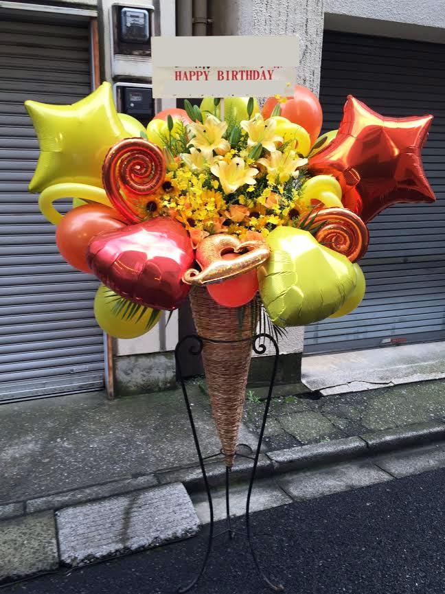 誕生日バルーンスタンド花