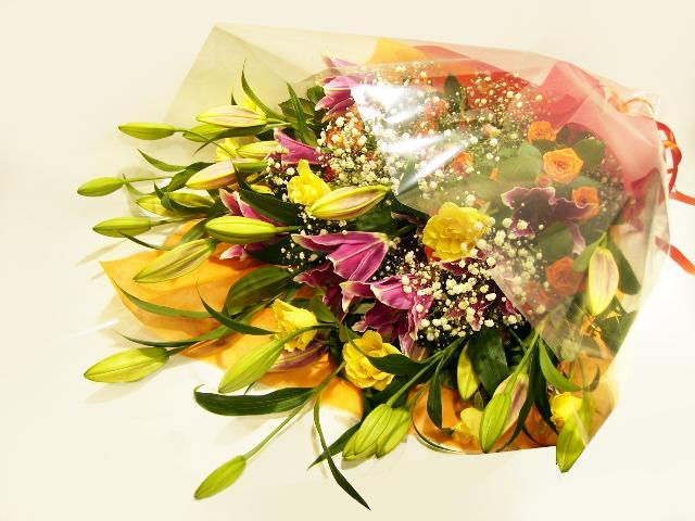 歓送迎花束