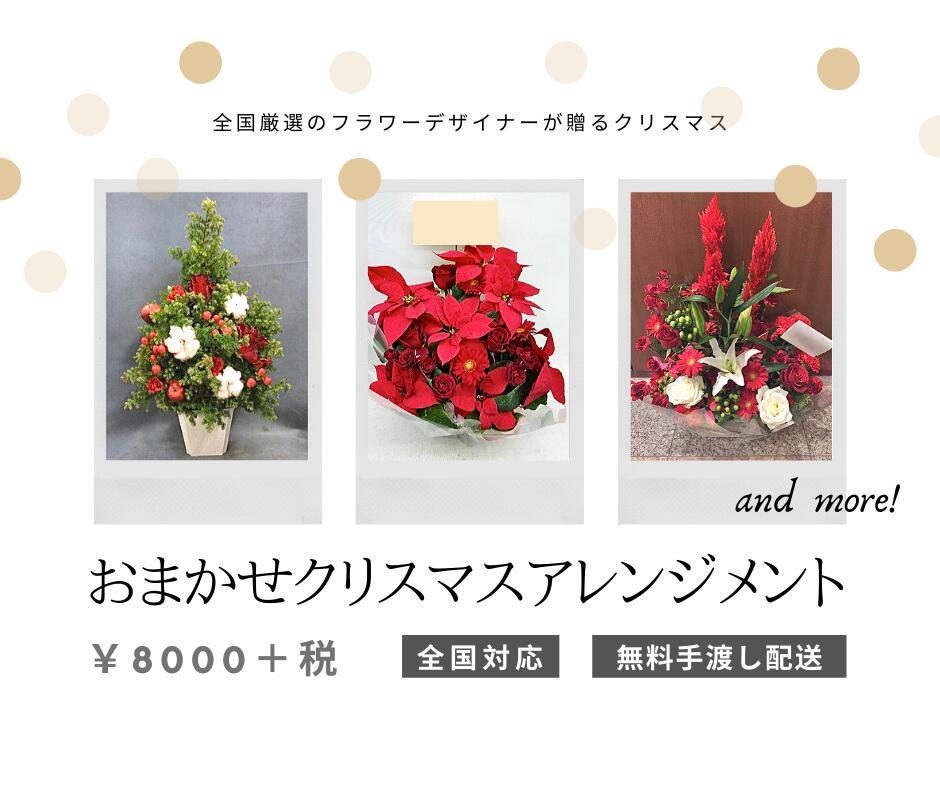 クリスマスアレンジメントフラワーを開店祝い・コンサートにスタンド花を東京名古屋大阪はじめ全国配達
