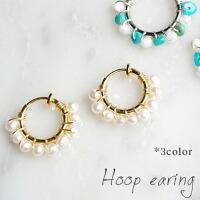 【全2色】CutieリボンのMIXカラーBIGバンスクリップ【メール便不可】hai023
