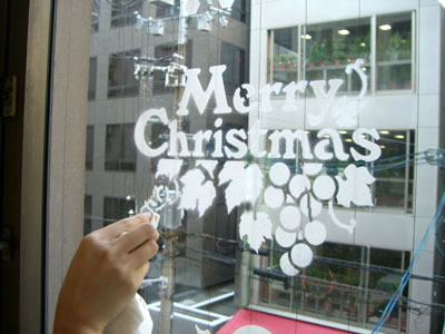 クリスマス 型紙 スノー スプレー