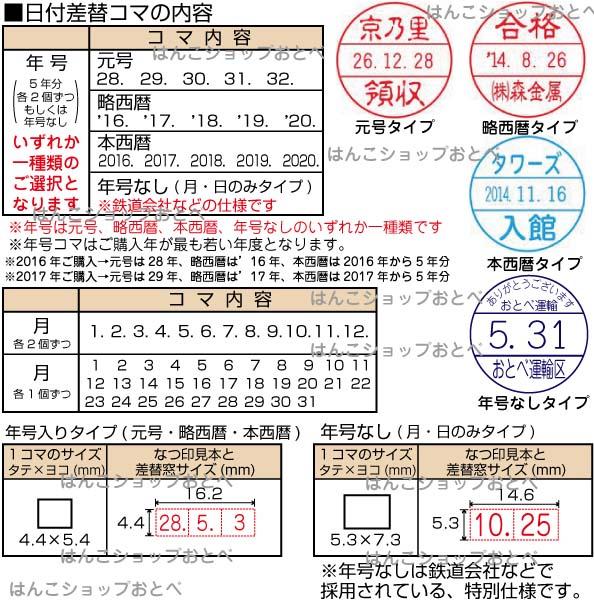 チケッター速乾性タイプの日付コマ詳細