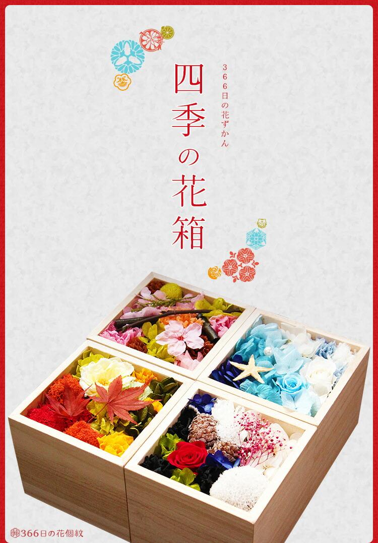 366日の花ずかん 四季の花箱